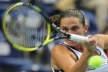Vera Dushevina side Roberta Vinci of the tournament in Moscow