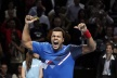 Tsonga disposed of Rafael Nadal from the tournament in London