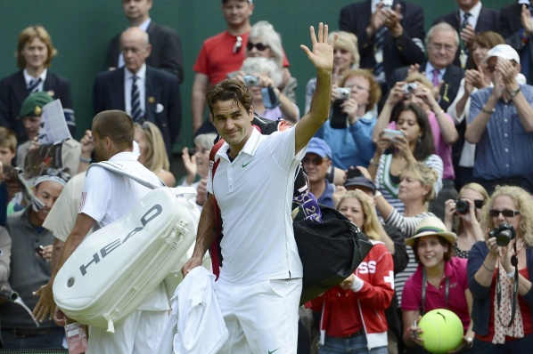 Djokovic against Federer in the semifinals at Wimbledon