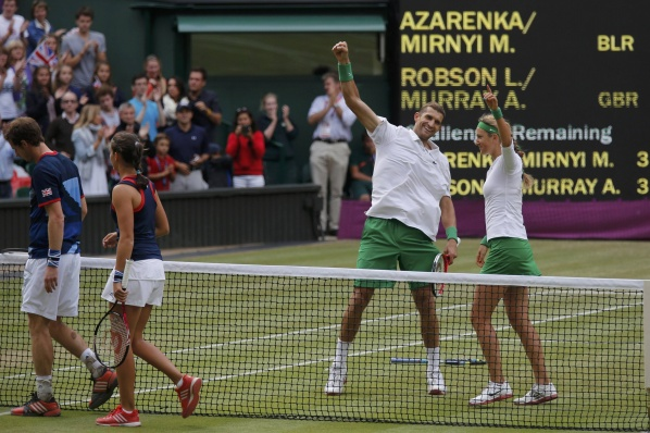 Murray failed to take second gold, Mirniy and Azarenka won the mixed doubles title