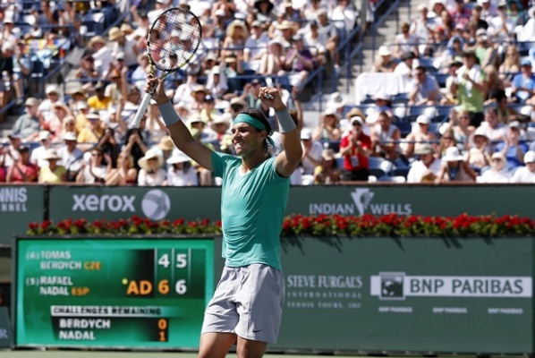 Nadal went through Berdych and is in the final at Indian Wells