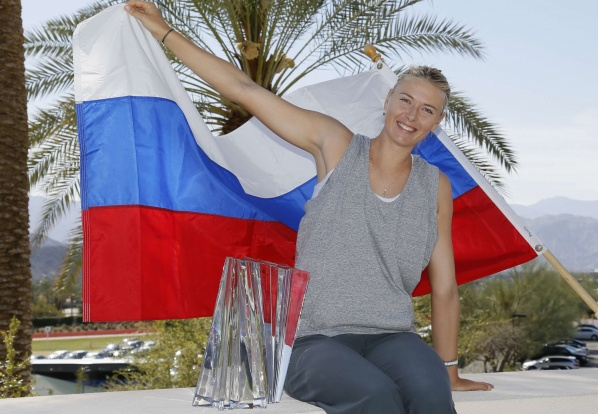 Sharapova triumphed at Indian Wells