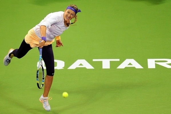 Azarenka started with a landslide victory in Paris