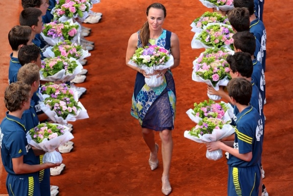 Martina Hingis is back on the court