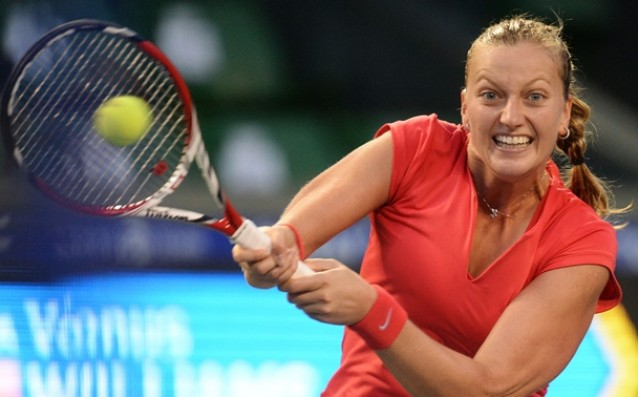 The Czech Republic with Petra Kvitova at the final of the `Fed Cup`