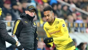 Only Borussia coach (E) still believes that Aubameyang remains