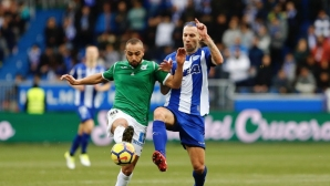 A red card and a late goal deprived Alaves of great success